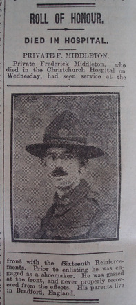 Portrait, Obituary The Star, 1 February 1919 - No known copyright restrictions