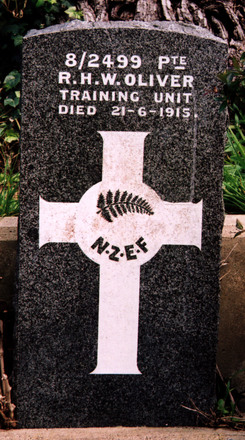 Gravestone at Karori Cemetery, Wellington, provided by Paul F. Baker. - No known copyright restrictions
