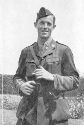 Frank Bullock-Webster in uniform carrying satchel - No known copyright restrictions