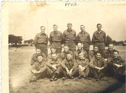 Frank Hutchinson and other POWs (front) - This image may be subject to copyright