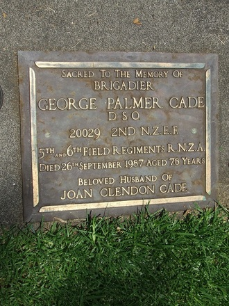 Gravestone at Purewa Cemetery provided by Paul Baker December 2013 - This image may be subject to copyright