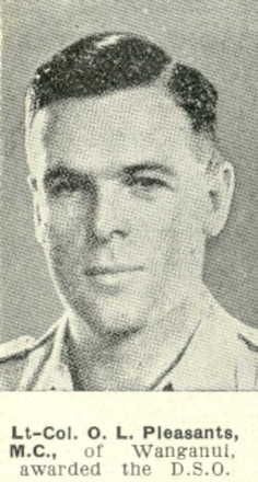 Portrait, awarded DSO from The Weekly News; 19 April 1944 - This image may be subject to copyright