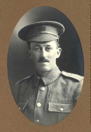 Portrait, Arthur Ellerm (c. 1915), taken at B. Hobday's Rona Studios, Feilding. - No known copyright restrictions