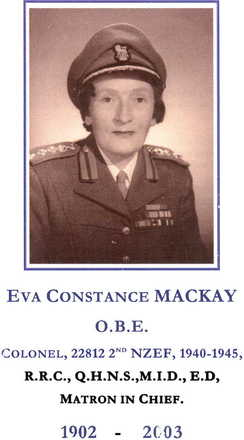 Eva Mackay in uniform. - This image may be subject to copyright