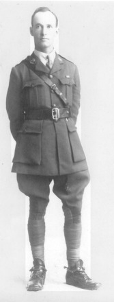 Photo of Percy McClatchie in uniform. - No known copyright restrictions