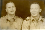 Group of 2 soldiers, Egypt in 1941. Sergeant Boss is on the left. The man on the right is Bob King. - This image may be subject to copyright