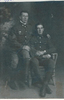 Group, 2 soldiers, brothers, WW1, Clifford and Kenneth (Right) Abbott, 1914c - No known copyright restrictions