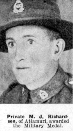 Portrait, Weekly News awarded the Military medal - This image may be subject to copyright