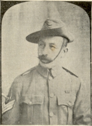 Regimental Quartermaster-Sergeant Prosper Raine Berland (Source: Inglis 1902). - No known copyright restrictions