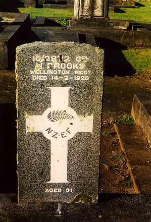 Image of gravestone at Otahuhu Public Cemetery provided by Paul F. Baker July 2003. - No known copyright restrictions