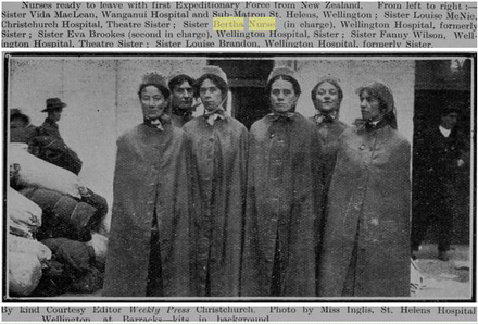 Photo from Kai Tiaki - the journal of the nurses of New Zealand, Volume VII, Issue 4, October 1914, Page 165, provided by Sarndra Lees. - Image has All Rights Reserved.