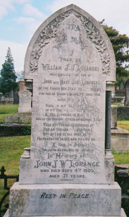Gravestone, Purewa Cemetery (photo provided by Paul F. Baker.) - No known copyright restrictions