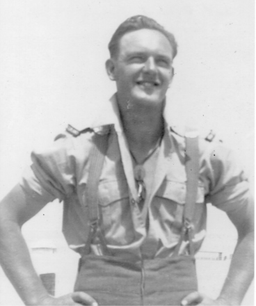 Portrait, Jack Ryland Franks (455596), aged 21 yrs. Taken in Maadi Camp, 1944. - This image may be subject to copyright
