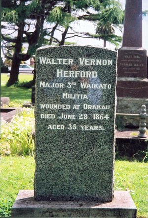 Headstone, Otahuhu Holy Trinity Anglican Cemetery Memorial Park (Photo Paul Baker 2008) - No known copyright restrictions