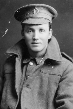 Private C Neary in uniform, coat and cap - No known copyright restrictions