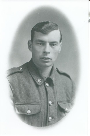 Portrait, WW1, John Groves (Jack) Hodder, 1916c - No known copyright restrictions