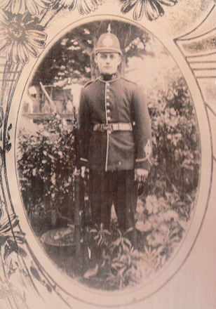 Bernhard in his Waitara Volunteers uniform - No known copyright restrictions