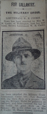 Portrait, Award Notice The Star, 9 January 1919 - No known copyright restrictions