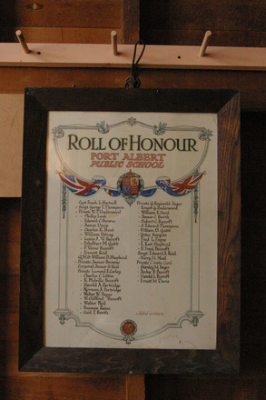 Roll of Honour Port Albert School, Port Albert Hall (photo J. Halpin May 2011) - No known copyright restrictions