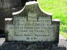 Images of gravestone at Papakura Cemetery provided by Sarndra Lees 2012 - Image has All Rights Reserved.