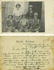 Group, WW1, 5 soldiers who shared the same tent at Zeitoun Camp, Egypt, studio photograph, postcard stamped, taken in 1915. Ernest Hobbs (2/1515) is on the left, back row. Archibald Duff (2/1509) is on the left, front row, men in shirt sleeves, pith helmets. Message on reverse: Zeitoun Camp, Egypt Aug[ust] 22 [19]15. Dear Alex. This PC represents my tentmates & myself in every day attire in aboce camp. You will also observe that we did not forget our identification discs. I trust you this finds you Mrs Main and family enjoying every blessing. With kindest Regards your affectionate friend Archie Duff. - No known copyright restrictions