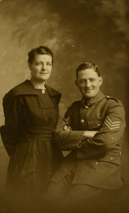 Portrait of Frederick in uniform and Sylvia Jackson from the collection of Paul F. Baker. - No known copyright restrictions