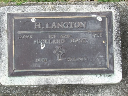 Image of Gravestone at Waikaraka Cemetery, Auckland provided by Paul Baker March 2013 - No known copyright restrictions