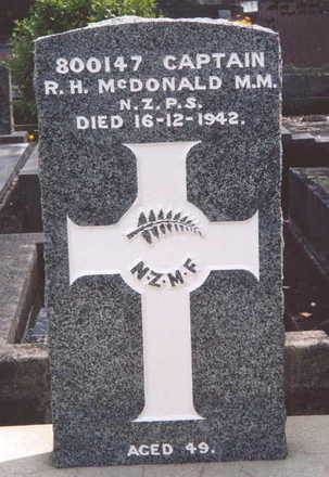 Headstone, Hillsborough Cemetery (photo P. Baker 2003) - This image may be subject to copyright