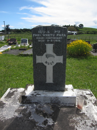 Gravestone at urupa, Kaikohe Maori Cemetery provided by Gabrielle Fortune, November 2009 - Image has All Rights Reserved
