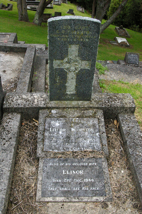 Headstone, Hillsborough Cemetery, Auckland (photo J. Halpin March 2012) - No known copyright restrictions
