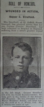 Portrait, Casualty Notice The Star, 12 April 1918 - No known copyright restrictions