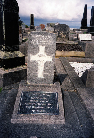Headstone, Hillsborough Cemetery (photo P Baker 2011) - No known copyright restrictions