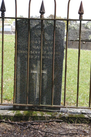 Headstone, Wellsford Cemetery (photo J. Halpin 2011) - No known copyright restrictions