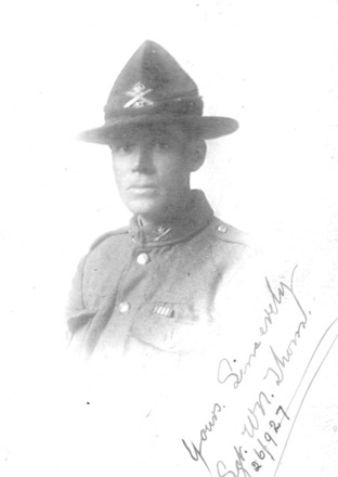 Image of Sergeant William Napier Thom in uniform provided by Richard Williams. - No known copyright restrictions