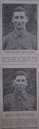 Portrait, Roll of Honour, New Zealand Casualties. The Star, Thursday 6 June 1918 - No known copyright restrictions