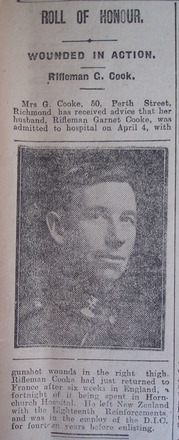 Portrait, Casualty Notice The Star, 20 April 1918 - No known copyright restrictions