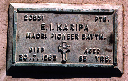 Headstone, Waikumete Cemetery (photo P Baker) - No known copyright restrictions