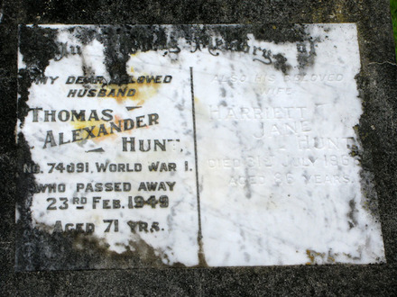 Images of headstone at Waikumete Cemetery provided by Sarndra Lees, February 2012. - Image has All Rights Reserved.