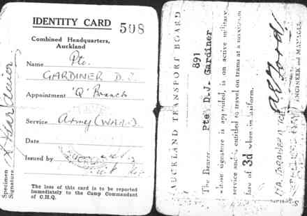 Identity card, WW2, WAAC - This image may be subject to copyright