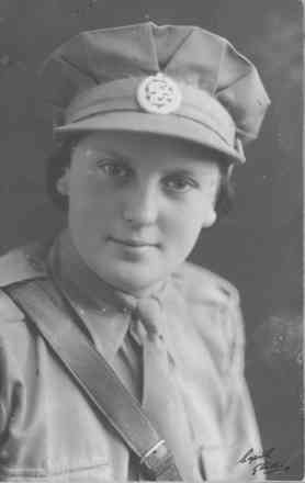 Portrait, Regimental Sergeant Major Betty Browne in uniform. - This image may be subject to copyright