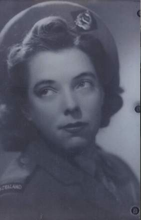 Portrait, Gwenyth Evans in uniform - This image may be subject to copyright
