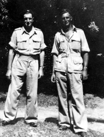 Image 1 : Left to right Doug Anderson & Jimmy Hutchison in Alexandria, Egypt. - This image may be subject to copyright