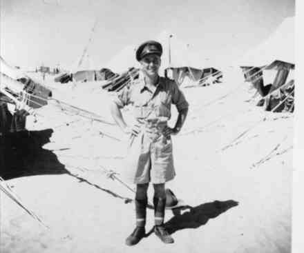 Lieutenant Arnold at HQ Helwan in 1942. - This image may be subject to copyright
