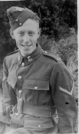 Portrait, Driver Burrow in uniform was taken in January 1941 - This image may be subject to copyright