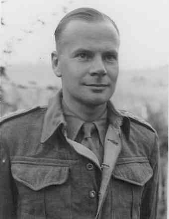 Portrait, James Fyfe Baker early 1942 photo taken whilst a POW by the Italians - This image may be subject to copyright