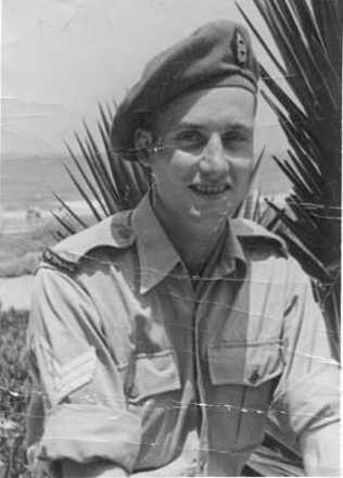 Portrait, Tel Aviv, August 1944 while on leave - This image may be subject to copyright