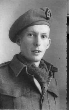 Portrait, Mr Jorgensen in uniform. - This image may be subject to copyright