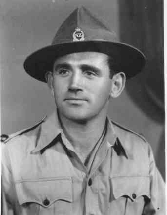 Portrait, Sergeant Smith with hat, photograph taken on 19 July 1945 - This image may be subject to copyright