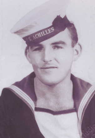 William Kennedy in uniform, Achilles cap - This image may be subject to copyright