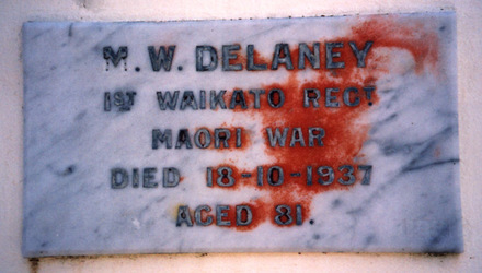 Memorial plaque (marble) Veterans Wall, Waikaraka Public Cemetery. Photo P. Baker 2008 - No known copyright restrictions